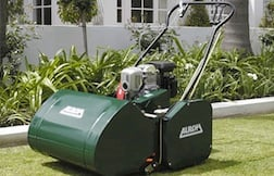 Cylinder Lawn Mower on Buffalo Grass