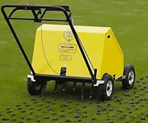 Lawn Coring Machine in Action
