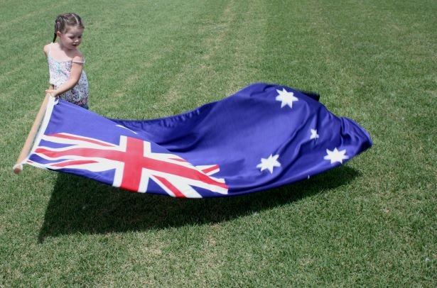 Nara Zoysia Grass with Australian Flag