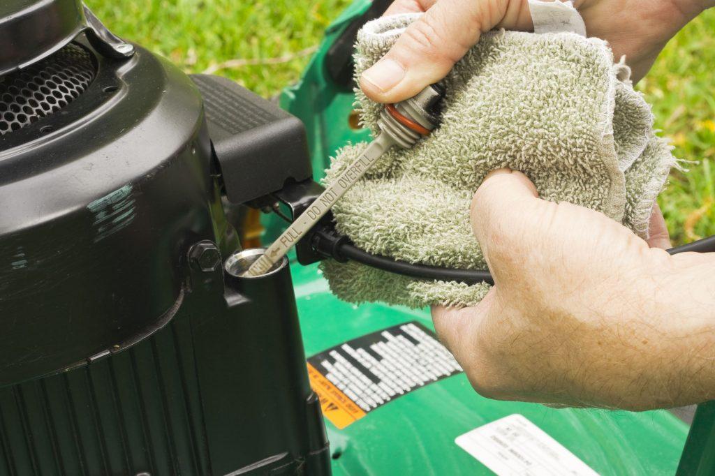 maintaining lawn mower